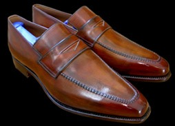 Glaçage chaussures cuir, exemple 1