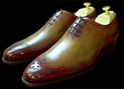 Glaçage chaussures cuir, exemple 2