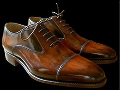 Patine chaussures cuir, exemple 1